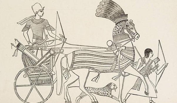 Egyptian Pharaoh ina War-Chariot.