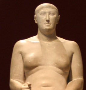 Statue of Hemiunu, vizier and designer of Khufu's pyramid.