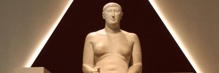 Statue of Hemiunu, vizier and designer of Khufu's pyramid.