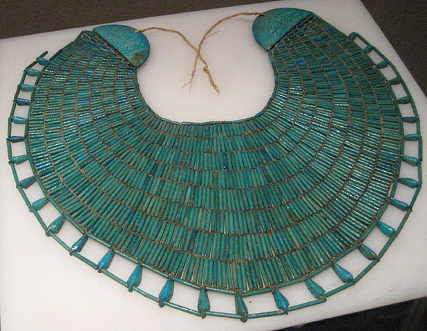 Broad collar necklace from the Egyptian 12th dynasty.