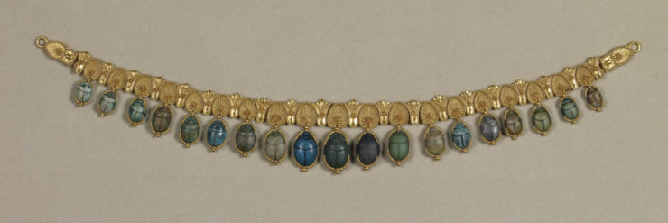 Egyptian-Style Necklace with Scarabs