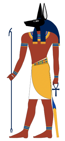 Anubis, depicted in human form.