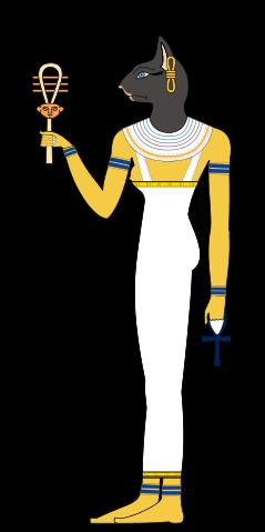 Bastet, depicted in human form.