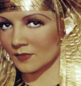Publicity photo of Claudette Colbert for the film Cleopatra.