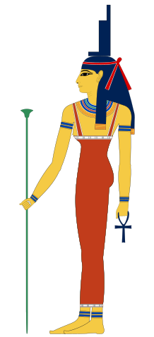 Ancient Egyptian goddess Isis, wife of Osiris.