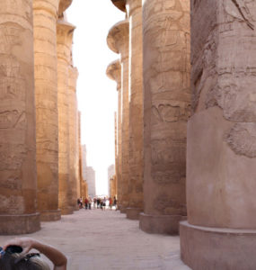 A panorama of the great hypostyle hall at Karnak.