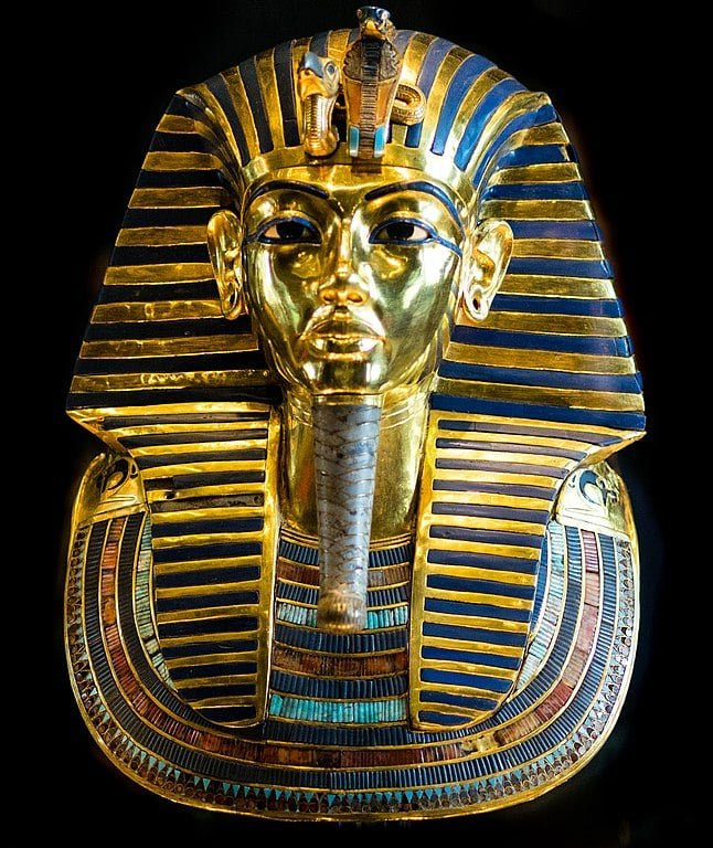 Burial mask of King Tutankhamun.