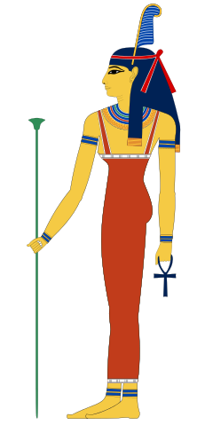 Maat, depicted in human form.