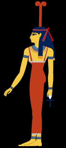 Meskhenet, depicted in human form.