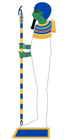 Ptah depicted in human form.