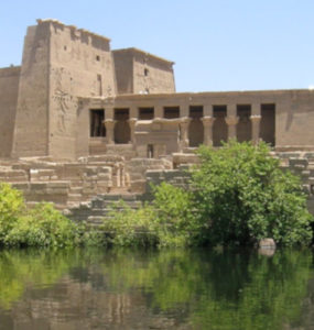 View of the Temple of Isis from Philae.