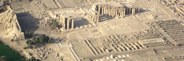 Temple of Rameses II within the Ramesseum complex.