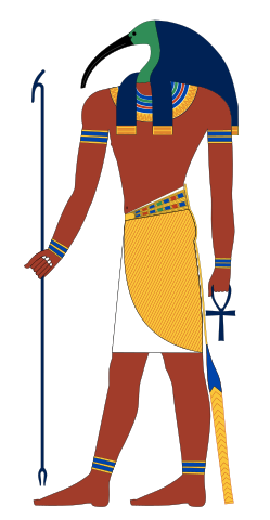 Thoth, depicted as an ibis-headed deity.