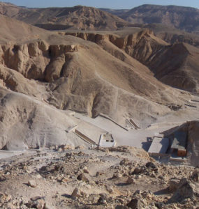 Panorama of the Valley of the Kings.