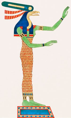 Wadjet, depicted in human form.