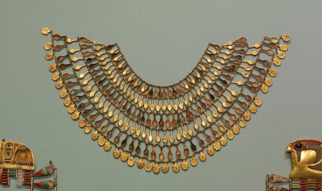 Broad collar Necklace from the Egyptian New Kingdom.