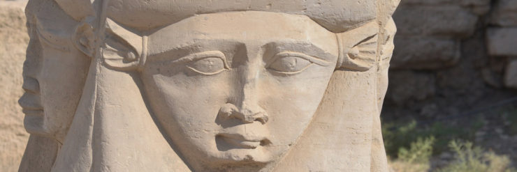 Stone Carving of Hathor.