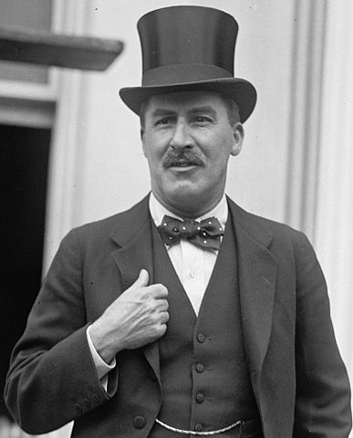 Photo of Howard Carter, 8th May 1924.