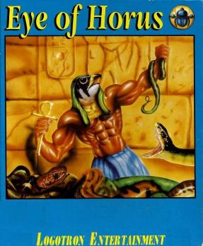 "Cover art from the ""Eye of Horus"" computer game."