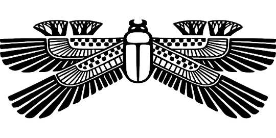 The Scarab Beetle, the symbol of the heavenly cycle, regeneration, and rebirth.