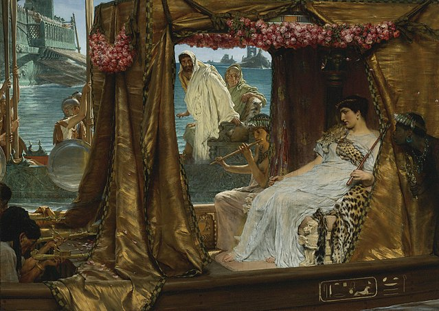 The Meeting of Antony and Cleopatra.