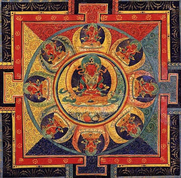 Mandala painting - Circle of fire