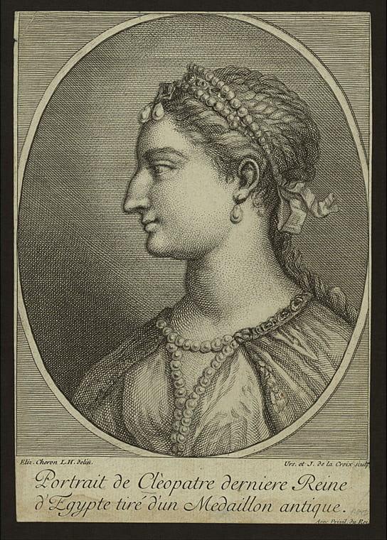 An engraving depicting Cleopatra VII.