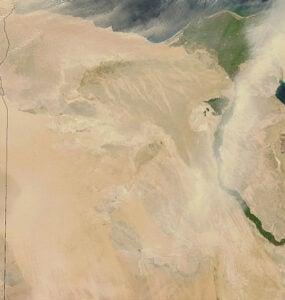 Dust storms off Egypt.