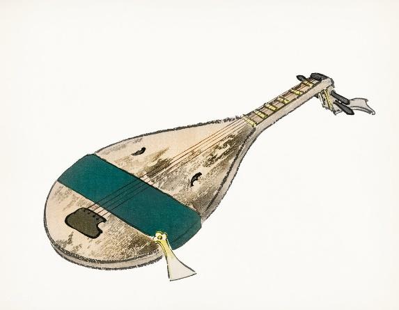 Biwa - Symbol of Benzaiten.