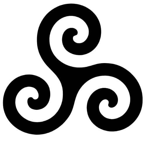 Triskele Symbol / Interconnected spirals linked to the concept of life.