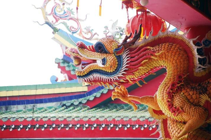 Chinese Dragon Statue.