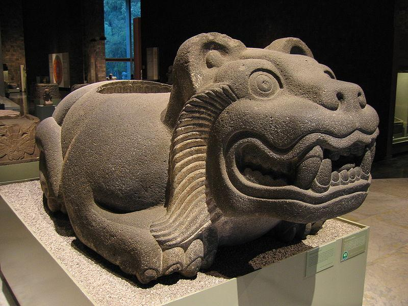Jaguar statue from Mesoamerica.
