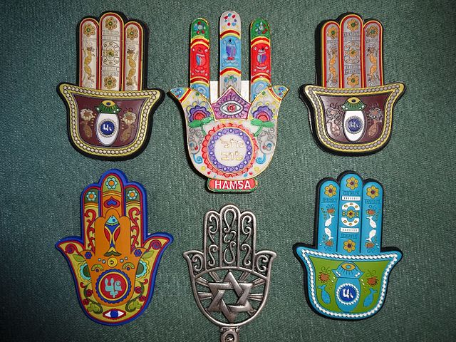 Hamsa / Middle-Eastern symbol of protection.