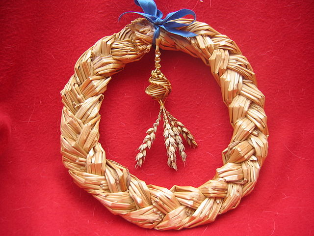Harvest Wreath made from straw