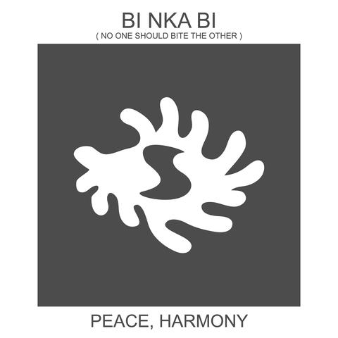 Bi Nka Bi / West African peace symbol.