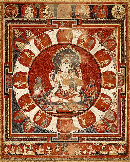 A painting of Mandala of Vishnu.