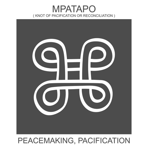 Mpatapo / African symbol of peace.