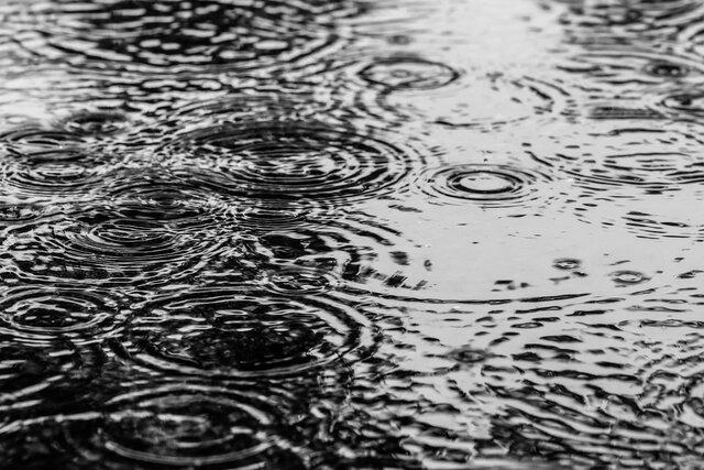 Raining / Hawaiian symbol of peace.