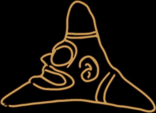 Three-point Zemi / Yakahu peace symbol.