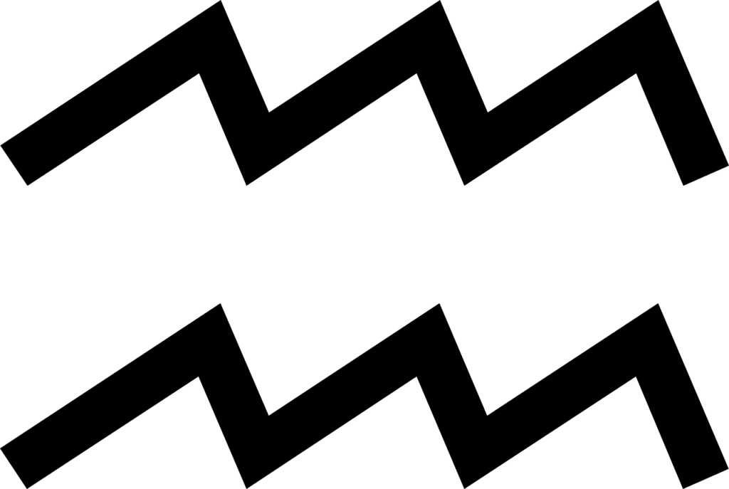 Zodiac symbol of water / Aquarius symbol .