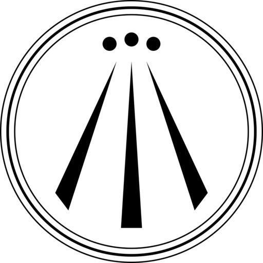 Awen symbol / Druidic trinity symbol.