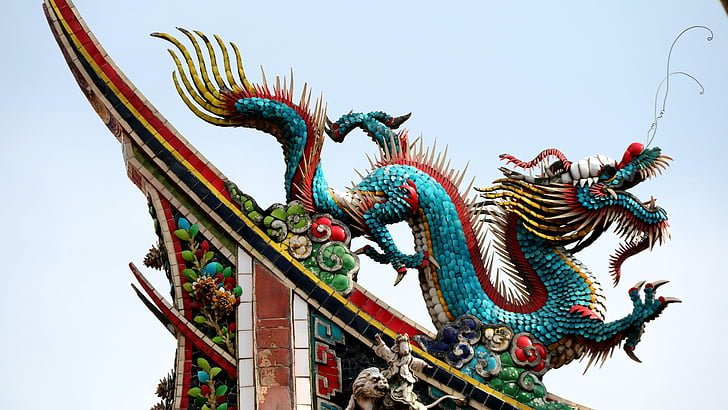 Azure dragon / Chinese symbol of the East.