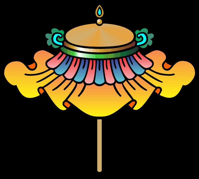 Chattra / Buddhist parasol.