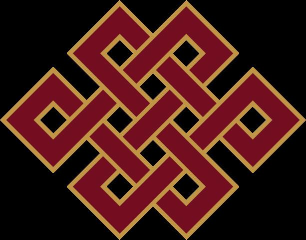 Buddhist Endless knot symbol.