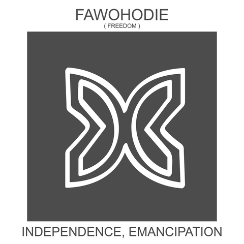 Adinkra freedom symbol / Fawohodie.