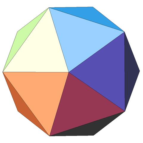 Plato's symbol for water / Icosahedron.