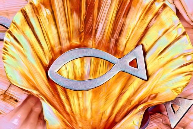Jesus fish / Christian faith symbol.