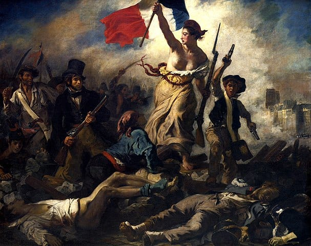 Symbol of France / Liberty leading the people.
