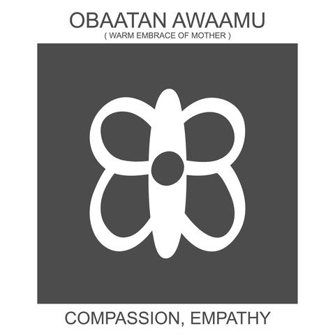 Obaatan Awaamu / Adinkra symbol of compassion.
