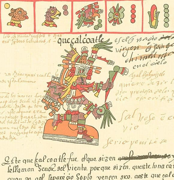 Quetzalcoatl as depicted in the Codex Telleriano-Remensis.